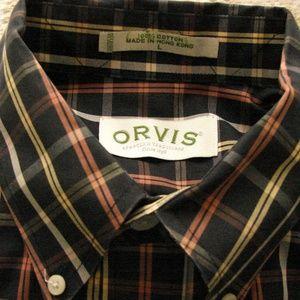 Men's Orvis long sleeve shirt L cotton